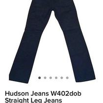 Hudson Straight Leg Jeans Black Photo