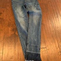 Hudson Stretch Skinny Jean Blue Denim Girls Size 16 With Pearl Embellishment Photo