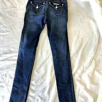 Hudson Sz 16 Youth Girls Dark Kelu Dark Wash Blue Jeans Pants Rn 140977 Photo