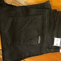 Hudson Tilda Midrise Straight Designer Jean Size 29 Black Wm457dbi Photo