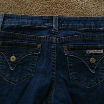 Hudson Trouser Bell Bottom Blue Denim Jean Pantswaist Sz 27 X 32.5 Women's   Photo