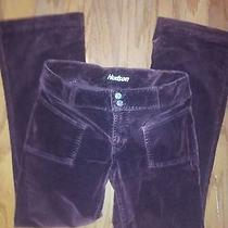 Hudson Velour Pants 29 Cranberry Red Smooth Rear Front Pockets Cord Brnt Brown 6 Photo