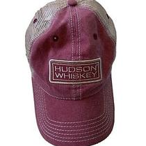 Hudson Whiskey Hat Mesh Light Brown and Faded Red Cap America Photo