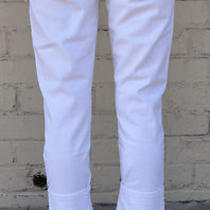 Hudson White Vintage Cropped Cuffed Capri Jeans 26 Nwt Photo