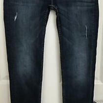 Hudson Women Collin Flap Skinny Dark Distressed Jeans Size 28 Inseam 31 Photo