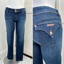 Hudson Womens Collin Flap Dark Wash Low Rise Skinny Jeans Size 32x32 Photo