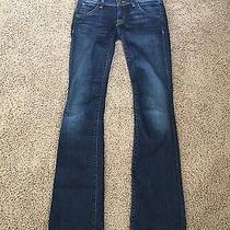Hudson Women's Jeans Sz 24 Beth Baby Boot Cut Stretch Medium Excellent Condition Photo