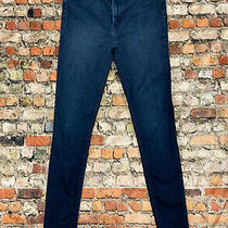 Hudson Women's Size 26 Blue Denim Mid Rise Slim  Skinny Stretch Jeans 10b33 Photo