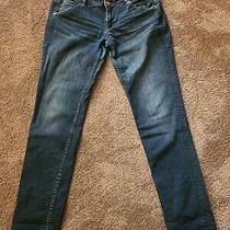 Hudson Womens 28 Collin Flap Skinny Dark Wash Blue Jeans Photo