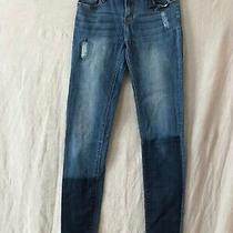 Hudson Womens Blue Solid Straight Fit Denim Jeans Rn140977 Size 16 Photo