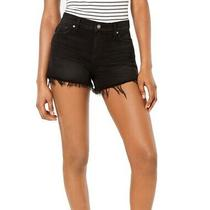 Hudson Womens Gemma Denim Shorts Black Size 28 Frayed Hem Distressed 165 604 Photo