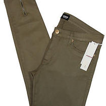 Hudson Womens Jeans Juliette Super Skinny Coated Denim Clover Green 31 New 198 Photo