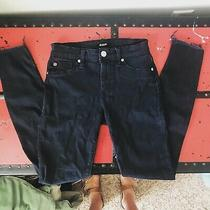 Hudson Womens Natalie Black Denim Mid-Rise Ankle Skinny Jeans 24 Bhfo 8482 Photo