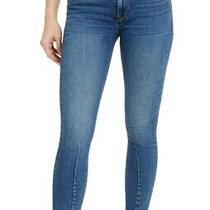 Hudson Womens Nico Skinny Ankle Jean Blue Size 27 Seamed Asymmetric Hem 215 973 Photo