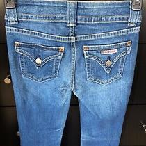 Hudson Womens Size 27 Stretch Flap Pocket Bootcut Dark Wash Jeans Photo