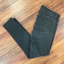 Hudson Womens Size 29 Krista Super Skinny Jeans Black Gray Print Photo