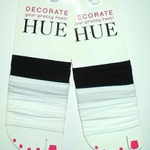 Hue 4 Pairs of Foot Tube Black & White New Photo