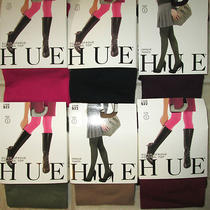 Hue 6 Pair Size 2 Control Top Color Variety Super Opaque Control Top Tights New Photo
