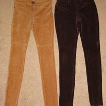 Hue Brown Corduroy Jeggings Leggings Pants Small S Lot of 2 Photo