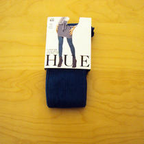 Hue Classic Rib Tights With Control Top Size 1 Concord (Purple) Photo