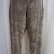 Hue Leggings Sz L Taupe Wide Wale Corduroy Full Length Stretch Pants   Photo