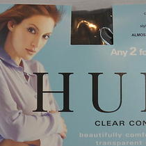Hue Nylons Sz 1 Almost Black Control Top Sheer Leg Clear Control Tights Photo
