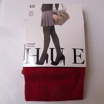 Hue Opaque Tights Apple Red Size 2 Xs Small Made in Usa 1 Pair Photo