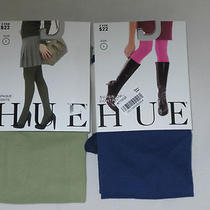 Hue Opaque Tights Lot of 2 Size 1 4'11