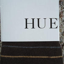 Hue Size M/l 12605 Espresso Striped Sweater Tights New Photo