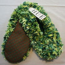 Hue Slippers Sz S 5 - 6 Multi Green Chenille Super Soft Booties Non Slip Soul  Photo