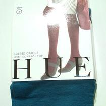 Hue Sueded Opaque Control Top Tights Sz 1 Jupiter New Photo