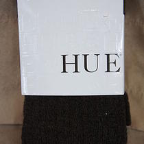 Hue Sweater Tights Sz M / L Mink Marl Pointelle Sweater Tight Cotton Blend Tight Photo