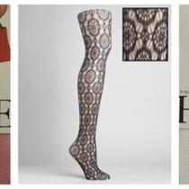 Hue Womens Set/3 Fishnet Textured Pattern Tights Stockings Panty Hose Hosiery Sm Photo