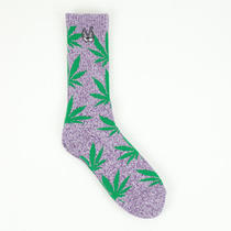 Huf X Snoop Dog Plantlife 4-20 Socks in Purple Heather Photo