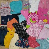 Huge 24pc Lot Baby Girl 12-18m 24m Clothing Summer Dresses Carters Est 89 Gap  Photo