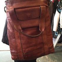 Huge Leather Fossil Bag Purse Photo