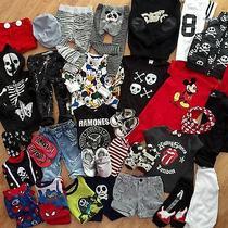Huge Lot Baby Boy Toddler Clothes Zara h&m Gap Mickey Converse Skull 12-24 Month Photo