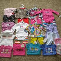 Huge Lot Baby Girl Clothes 0-3 Months Gap Crazy 8 Carters  Nwt Rv 300 Photo