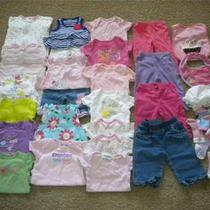 Huge Lot Baby Girl Summer Clothes Size 3-6 Months Gap Carter's Place Rv 260 Photo
