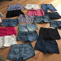 Huge Lot  of 17 Jrs Shorts/skirts - Express Ae Guess Abercrombie - Sz 10-11 Photo