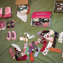 Huge Lot of 8 Girl Shoes Boots Size 5 6 7 / 29 Socks Converse Gymboree Crazy 8 Photo