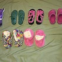 Huge Lot of 8 Toddler Girl Shoes Croc Boots Gymboree Sandals Slippers Size 8/9 9 Photo