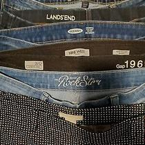 Huge Lot of Jeans/pants Size 12lands End Old Navy Nine West Gap and More Photo