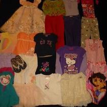 Huge Used Baby Girl Toddler 4t 4/5 Spring Summer Clothes Lot Dresses Skirts 1 Photo