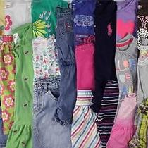 Huge Used Girl 5t 5/6 Spring Summer Outfit Clothes Lot Gymboree Roxy Crazy 8 Photo