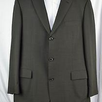 Hugo Boss 44l Charcoal Gray Jacket 100% Wool Horn Buttons Gray 3-Button J83b Photo