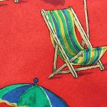 Hugo Boss Beach Chair Umbrella Deco Red Green Blue Khaki Silk Necktie Tie Mj08-1 Photo