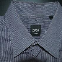 Hugo Boss Black Label 100% Cotton Mens Ls Slim Fit Shirt Size Large Photo