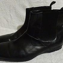 Hugo Boss Black Label Mens Leather Ankle Boots Shoes Casual Corporate Formal Euc Photo