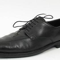 Hugo Boss Black Leather Rubber Sole Oxfords Dress Shoes Sz. Us 9.5 Restored Photo